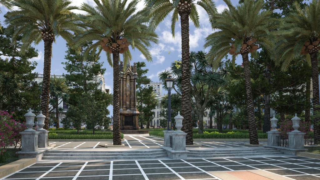 infografía 3D urbanización de la Plaza de Africa de Ceuta
