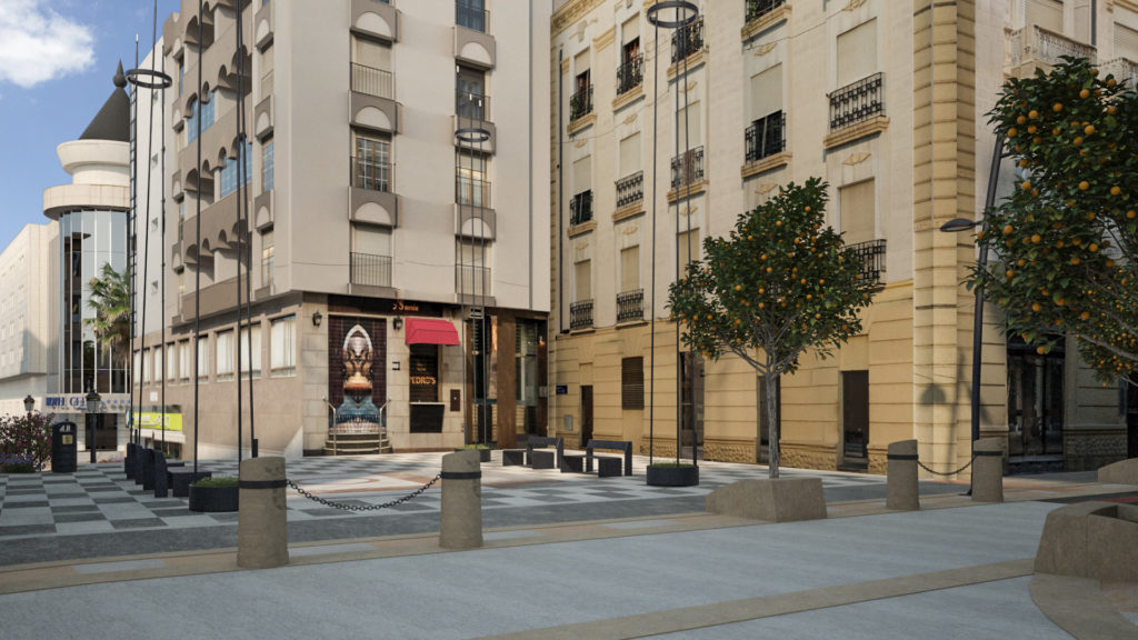 infografia 3D urbanización de la Calle Jaudenes